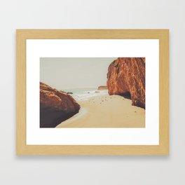 Beach Day - Ocean, Coast - Landscape Nature Photography Framed Art Print
