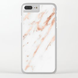 Pink Quartz Marble Rose Gold White Clear iPhone Case