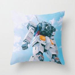 Gundam Sky Photoshot Throw Pillow