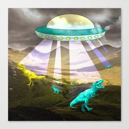 Aliens do exist - dino exctinction event Canvas Print