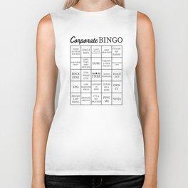 Corporate Jargon Buzzword Bingo Card Biker Tank