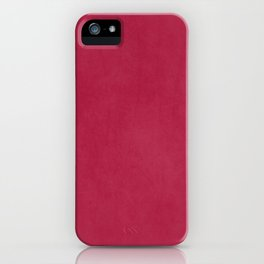 Modern girly magenta pink faux leather pattern iPhone Case