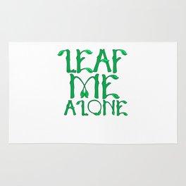 Cute & Funny Leaf Me Alone Fall Season Pun Leave Me Alone Rug