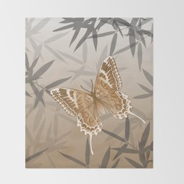 Beautiful Copper Butterfly Design Throw Blanket