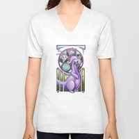 mucha V-neck T-shirts featuring Mucha Goodra by daftmue