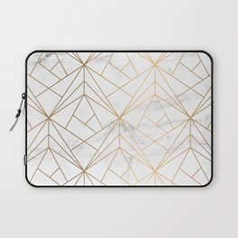 Marble, Geometry and Gold Laptop Sleeve