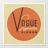 vogue Canvas Prints featuring Vogue by One Little Bird Studio