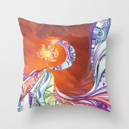 Blissful Harmony Throw Pillow