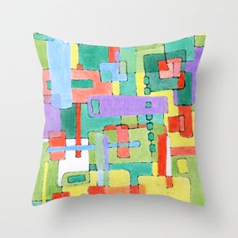 Cocktails in the City Throw Pillow
