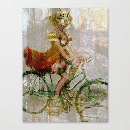 Speeding Down the Street, Devilish. Canvas Print