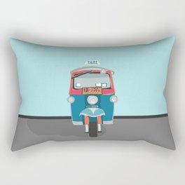Thailand Tuk Tuk Taxi Travel Poster Rectangular Pillow