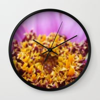 middle earth Wall Clocks featuring Middle by Sarah Schwartz