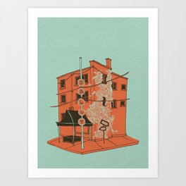 Dally in the Alley Art Print