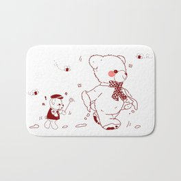 The Adventures of Bear and Baby Bear-Who took the honey Bath Mat