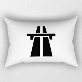 Freeway, Motorway, Autobahn - Black Rectangular Pillow