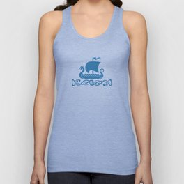 Drgon Boat - Blue Unisex Tank Top