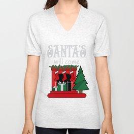 santa's will come Unisex V-Neck