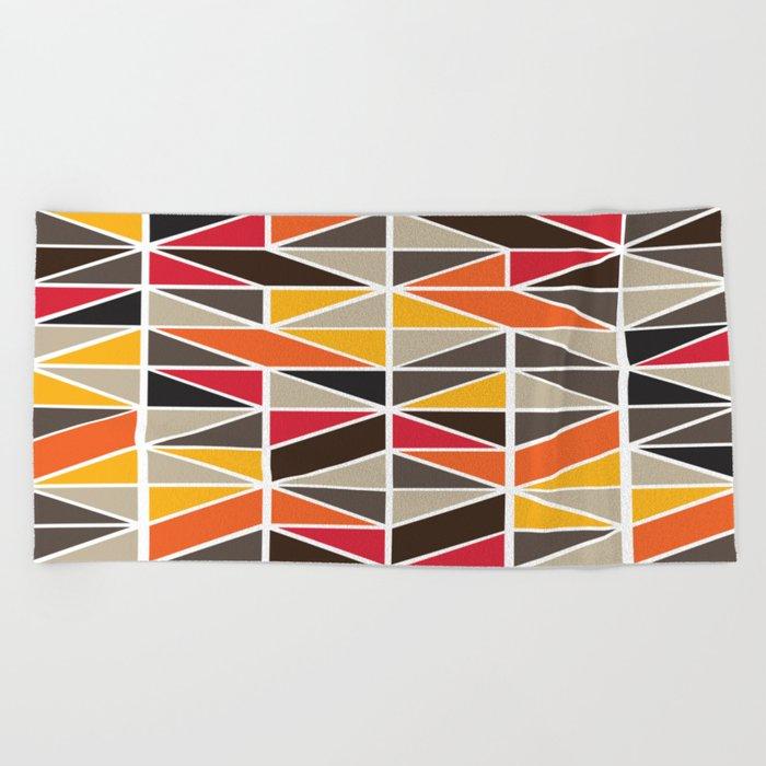 African Tribal Pattern No. 3 Beach Towel