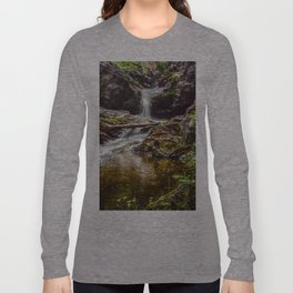 Ducklings swimming at the waterfall Long Sleeve T-shirt