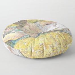 """Henri de Toulouse-Lautrec """"L'abandon (Les deux amies)"""" Floor Pillow"""