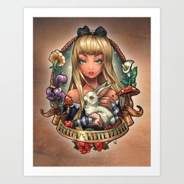 Follow The White Rabbit. Art Print