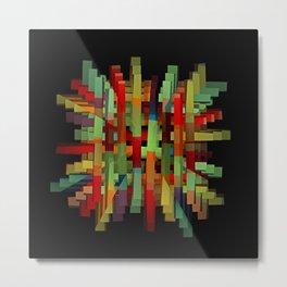 Popsicle Sticks Metal Print