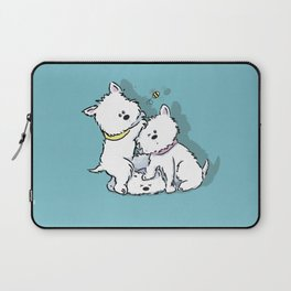 Westie's Chasing a Bee Laptop Sleeve