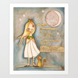 I See the Moon - Poetry print Art Print