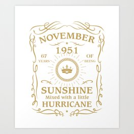 November 1951 Sunshine mixed Hurricane Art Print