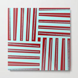 meeting of horizontal and vertical lines Metal Print