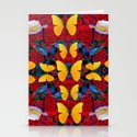 RED-WHITE ROSES & YELLOW BUTTERFLIES GARDEN by sharlesart