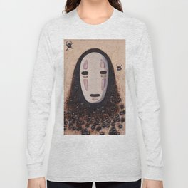 No Face - Spirited Away with Soot sprites (Susuwatari) Long Sleeve T-shirt