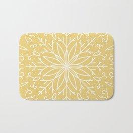 Single Snowflake - Yellow Bath Mat