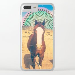 Western Pony Love Clear iPhone Case