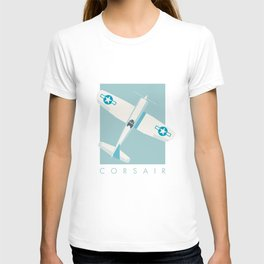 F4U Corsair Fighter Aircraft - Sky T-shirt