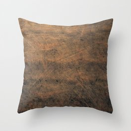 Scratched Suede Tobacco Throw Pillow
