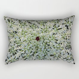 Queen Annes Lace Wildflower in Horicon Marsh Wisconsin Rectangular Pillow