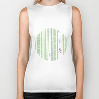 bamboo Biker Tanks featuring bamboo by liva cabule