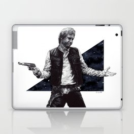 He shot first and he doesn't care Laptop & iPad Skin