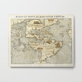 Map Of America 1540 Metal Print