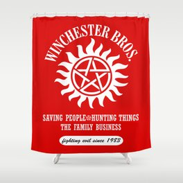 SUPERNATURAL WINCHESTER BROTHERS DEAN AND SAM Shower Curtain