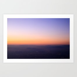 Overhead Sunset Los Angeles Art Print