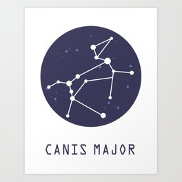 Canis Major Constellation Art Print