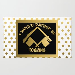 I'd Rather Be Tossing-Color Guard Design Rug