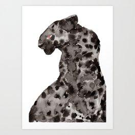 Jaguar - Onça do Pantanal em Chamas Art Print