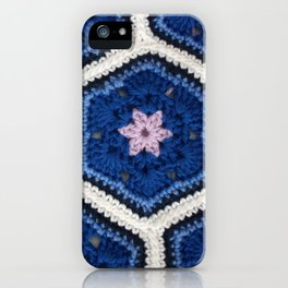 African Flower Crochet Art iPhone Case