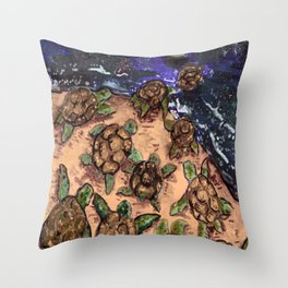 galaxy turtle Throw Pillow