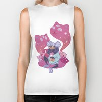 pastel goth Biker Tanks featuring Pastel Tea by LaRi