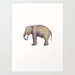 elephant color Art Print