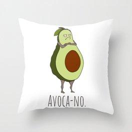 Avoca-no: Grumpy Avocado Throw Pillow